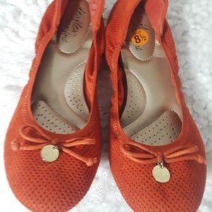 DexFlex Comfort Fit Burnt Orange Ballet Slip ons 8